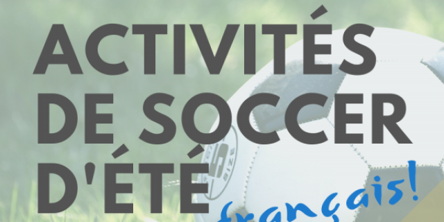 Activité de soccer
